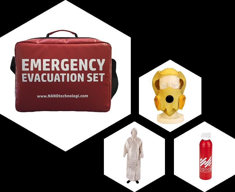 Záchranný evakuační set C
